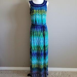 Cleo Petites Ikat pattern sleeveless Maxi dress, 8